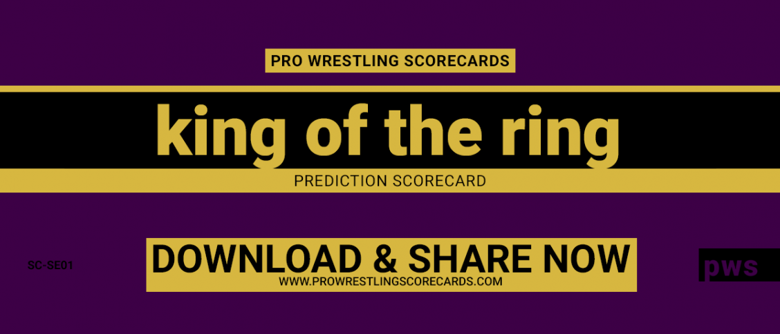 King of the Ring 2019 Scorecard
